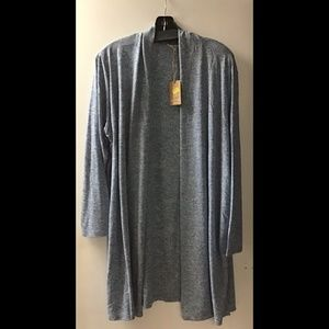 NWT Plus Linen Blend Open Shrug